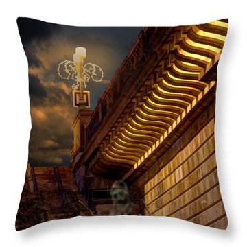 London Bridge Spirits Throw Pillow