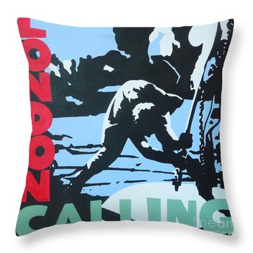 London Calling Throw Pillow by ID Goodall
