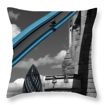 London City Frame Throw Pillow by Hazy Apple