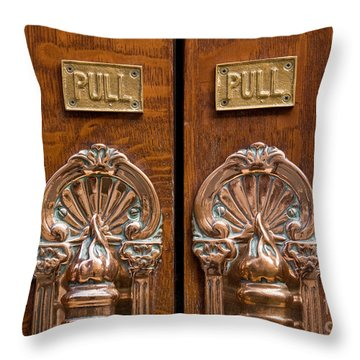 London Coliseum Doors 02 Throw Pillow