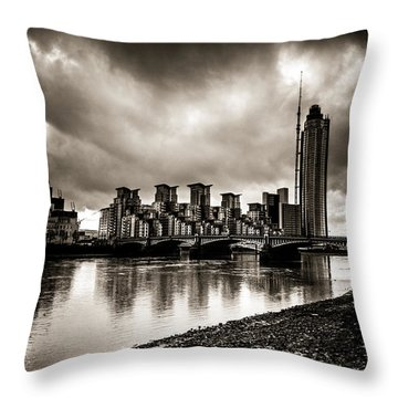 London Drama Throw Pillow