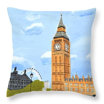 London England Big Ben  Throw Pillow