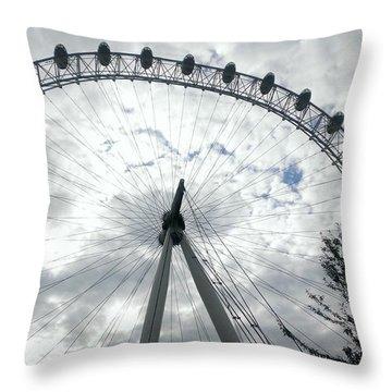 London Eye Throw Pillow by Eva Csilla Horvath