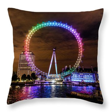 London Eye Pride Throw Pillow