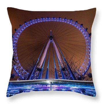 London Eye Supports Throw Pillow