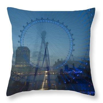 Victoria Embankment Throw Pillows