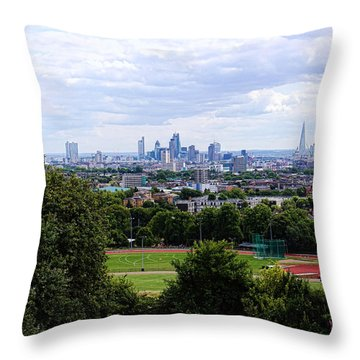 London From Parliament Hill Throw Pillow by Nicky Jameson