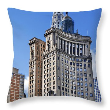 London Guarantee And Accident Building Chicago Throw Pillow by Christine Till