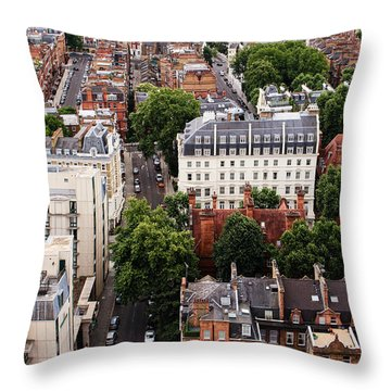 London Kensington Rooftops Throw Pillow by Nicky Jameson