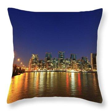 London Night Throw Pillow by Mariusz Czajkowski