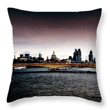 London Over The Waterloo Bridge Throw Pillow by RicardMN Photography