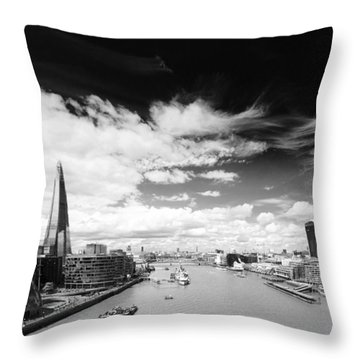 Throw Pillow featuring the photograph London Panorama by Chevy Fleet