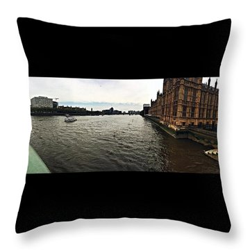 London Throw Pillow by Peyton  Turbeville