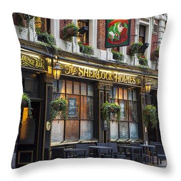 Throw Pillow featuring the photograph London Pub by Brian Jannsen