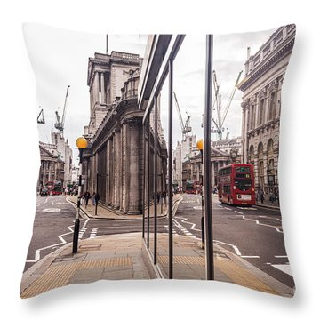 London Reflected Throw Pillow by Matt Malloy