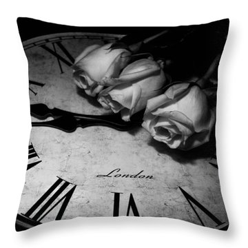 London Rose Throw Pillow