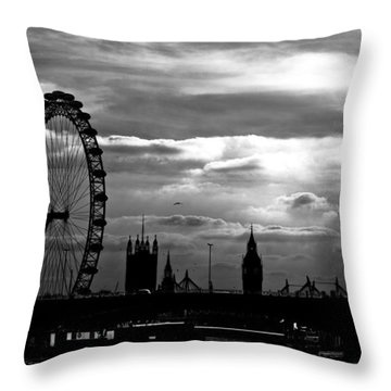 London Silhouette Throw Pillow by Jorge Maia