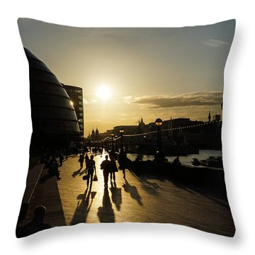 Throw Pillow featuring the photograph London Silhouettes  by Georgia Mizuleva