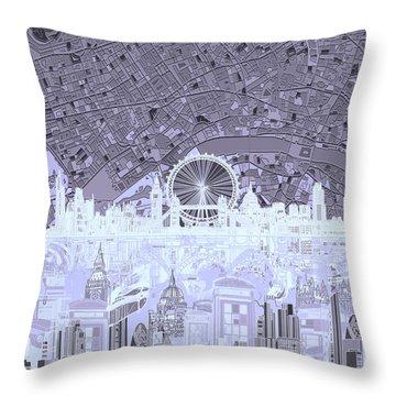 London Skyline Abstract 10 Throw Pillow