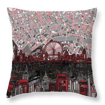 London Skyline Abstract 6 Throw Pillow