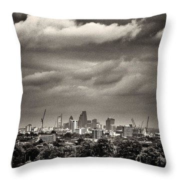 London Skyline From Hampstead Heath Throw Pillow