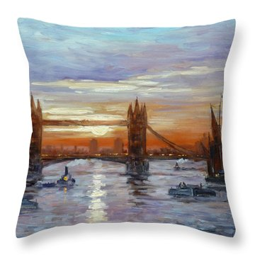 London Tower Bridge Throw Pillow