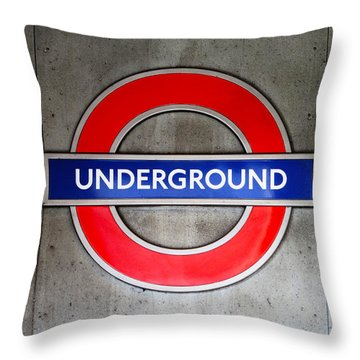 London Underground Sign Throw Pillow