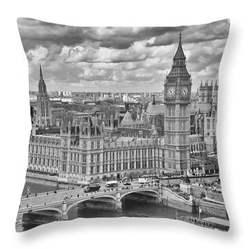 London Westminster Throw Pillow by Melanie Viola