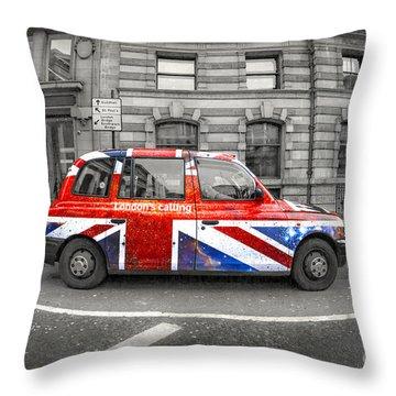 London's Calling Throw Pillow
