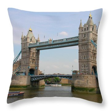 London's Tower Bridge Throw Pillow