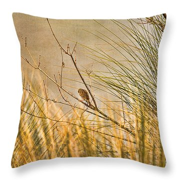 Throw Pillow featuring the photograph Lone Bird by Anne Rodkin