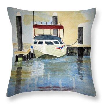 Lone Boat Throw Pillow by Elvira Ingram