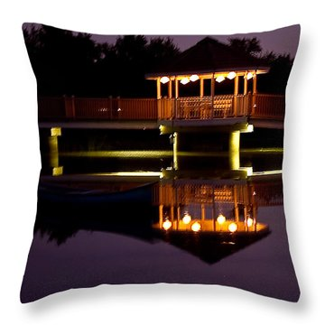 Lone Canoe Throw Pillow