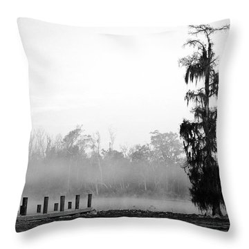 Lone Cypress Throw Pillow by Chris Pietraroia