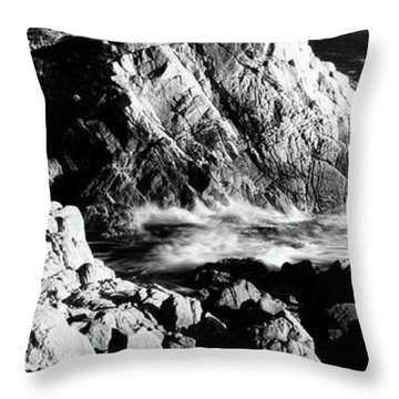 Lone Cypress On The Coast, Pebble Throw Pillow