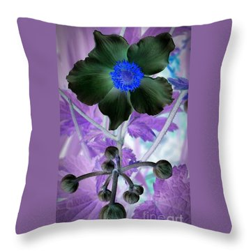 Lone Flower 1 Throw Pillow by Chalet Roome-Rigdon
