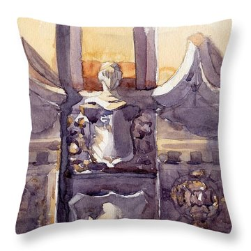 Lone Guardian Throw Pillow by Max Good