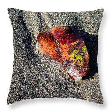 Lone Leaf Throw Pillow
