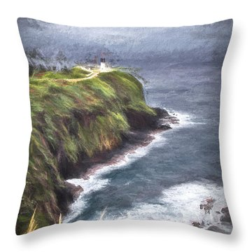 Lone Lighthouse  ... Throw Pillow