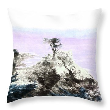 Lone Pine Pebble Beach Throw Pillow