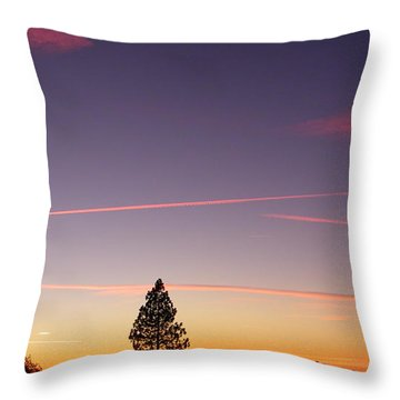 Lone Pine Throw Pillow by Tom Mansfield