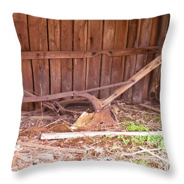 Throw Pillow featuring the photograph Lone Plow by Nick Kirby