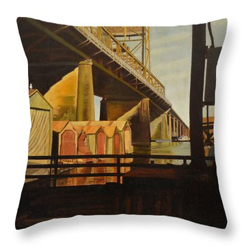 Lone Seagull Throw Pillow by Thu Nguyen