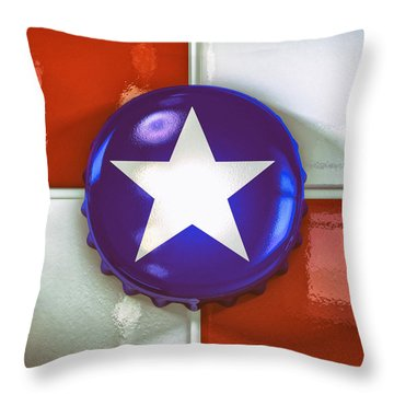 Lone Star Beer Throw Pillow by Scott Norris