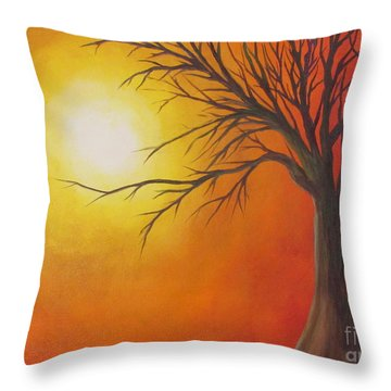 Lone Tree Throw Pillow by Denise Hoag