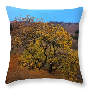 Throw Pillow featuring the photograph Lone Tree In Chino Park by Viktor Savchenko