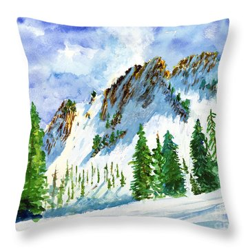 Lone Tree In The Afternoon Throw Pillow