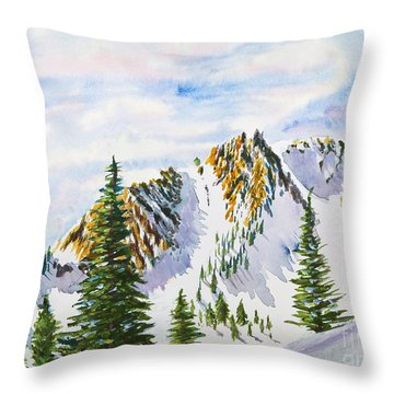 Lone Tree In The Morning Throw Pillow