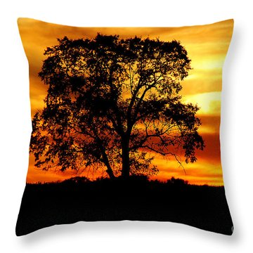 Lone Tree Throw Pillow by Mary Carol Story