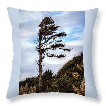 Lone Tree Throw Pillow by Melanie Lankford Photography
